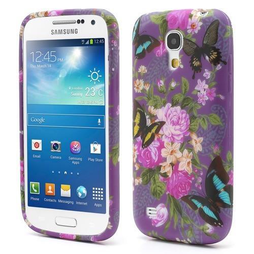 Силиконовый чехол для Samsung Galaxy S4 mini Flowers and Butt