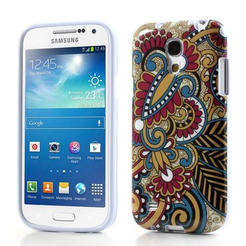Силиконовый чехол для Samsung Galaxy S4 mini Абстракция в красном