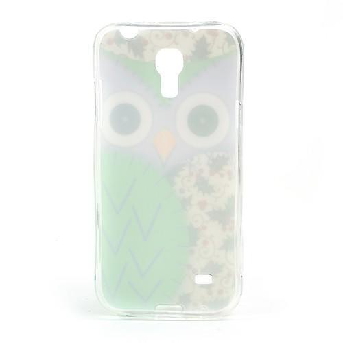 Силиконовый чехол для Samsung Galaxy S4 mini Owl Green