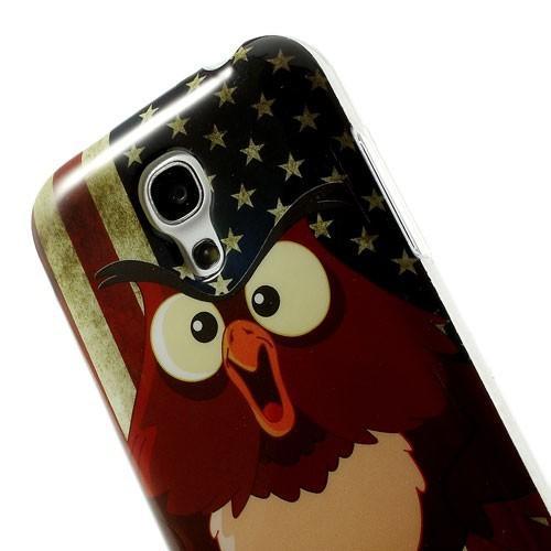 Силиконовый чехол для Samsung Galaxy S4 mini Owl Leader & USA Flag