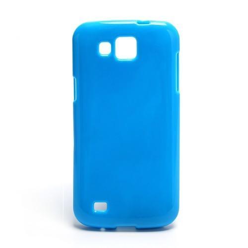 Силиконовый чехол для Samsung Galaxy Premier голубой