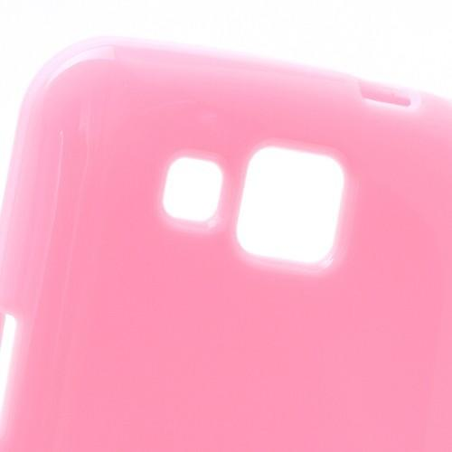 Силиконовый чехол для Samsung Galaxy Premier розовый