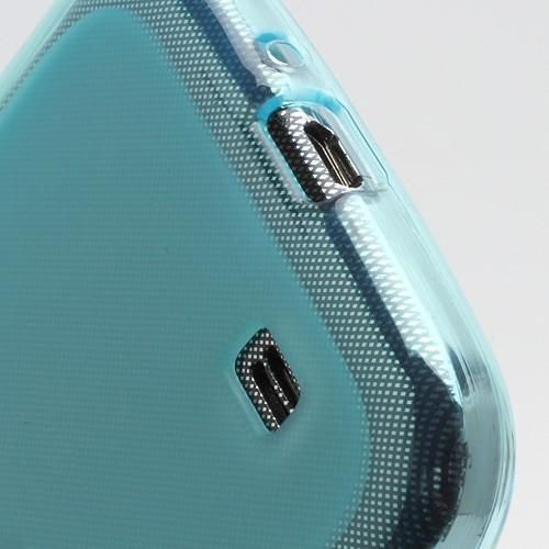 Силиконовый чехол для Samsung Galaxy S4 голубой