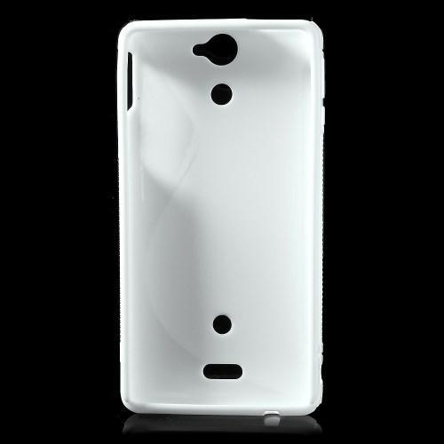Силиконовый чехол для Sony Xperia V белый