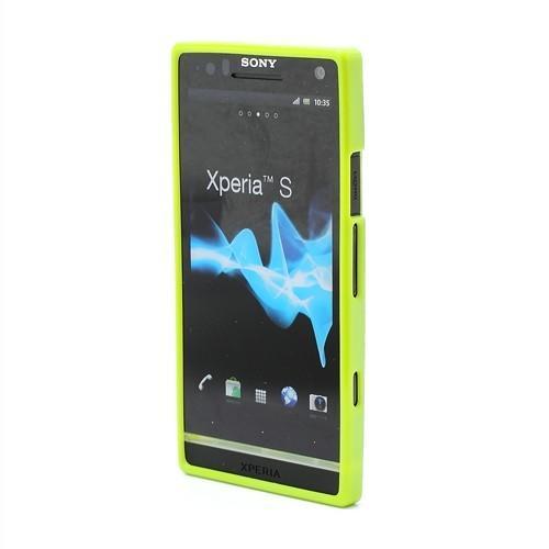 Силиконовый чехол для Sony Xperia S Bubble зеленый
