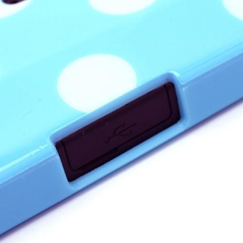 Силиконовый чехол для Sony Xperia S Bubble голубой