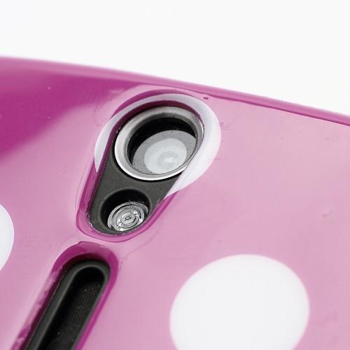 Силиконовый чехол для Sony Xperia S Bubble фиолетовый