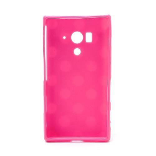 Силиконовый чехол для Sony Xperia Acro S розовый Bubble