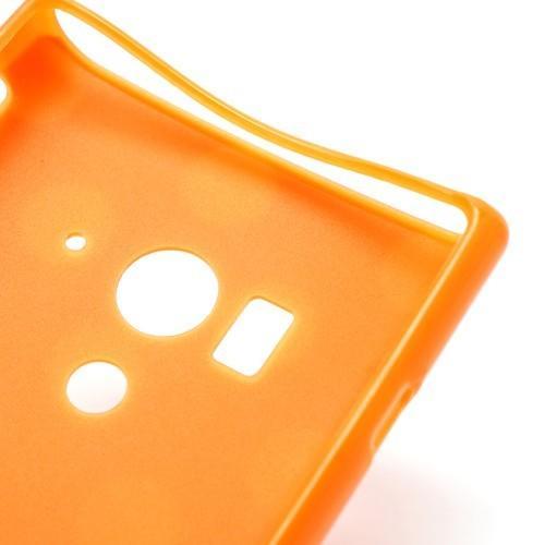 Силиконовый чехол для Sony Xperia Acro S оранжевый Bubble