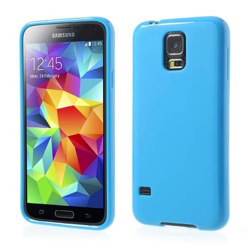 Силиконовый чехол для Samsung Galaxy S5 голубой