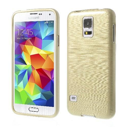Силиконовый чехол для Samsung Galaxy S5 золотой