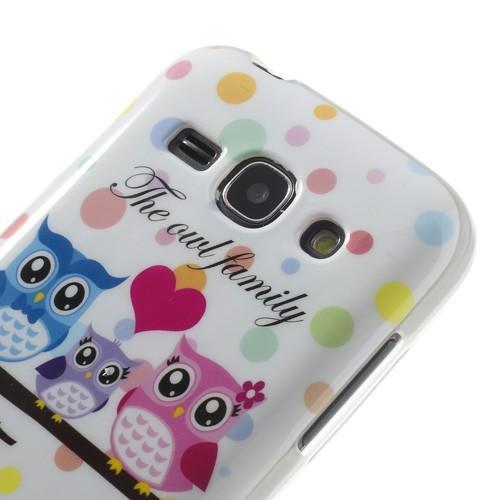 Силиконовый чехол для Samsung Galaxy Ace 3 The owl family