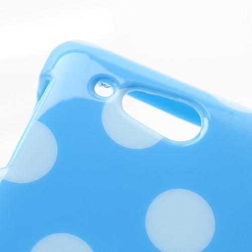 Силиконовый чехол для Sony Xperia Go голубой Bubble