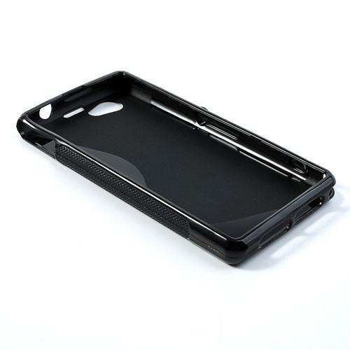 Силиконовый чехол для Sony Xperia Z1 Compact черный S-shape