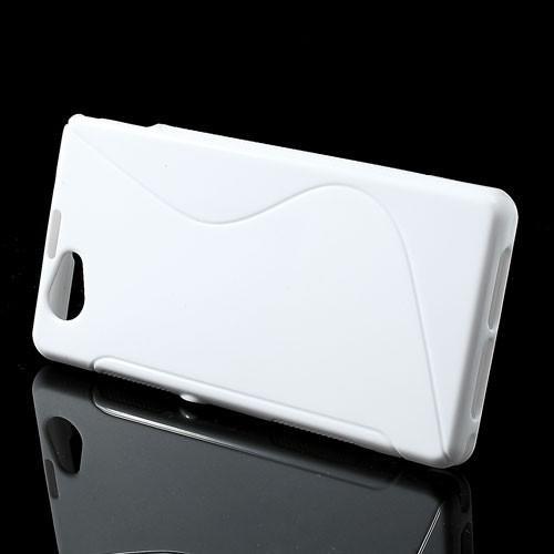 Силиконовый чехол для Sony Xperia Z1 Compact белый S-shape