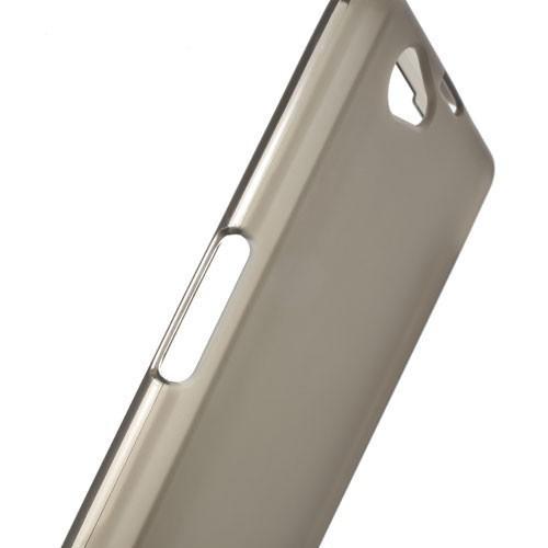 Силиконовый чехол для Sony Xperia Z1 Compact черный прозрачный