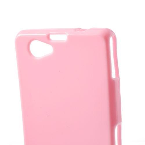 Силиконовый чехол для Sony Xperia Z1 Compact розовый