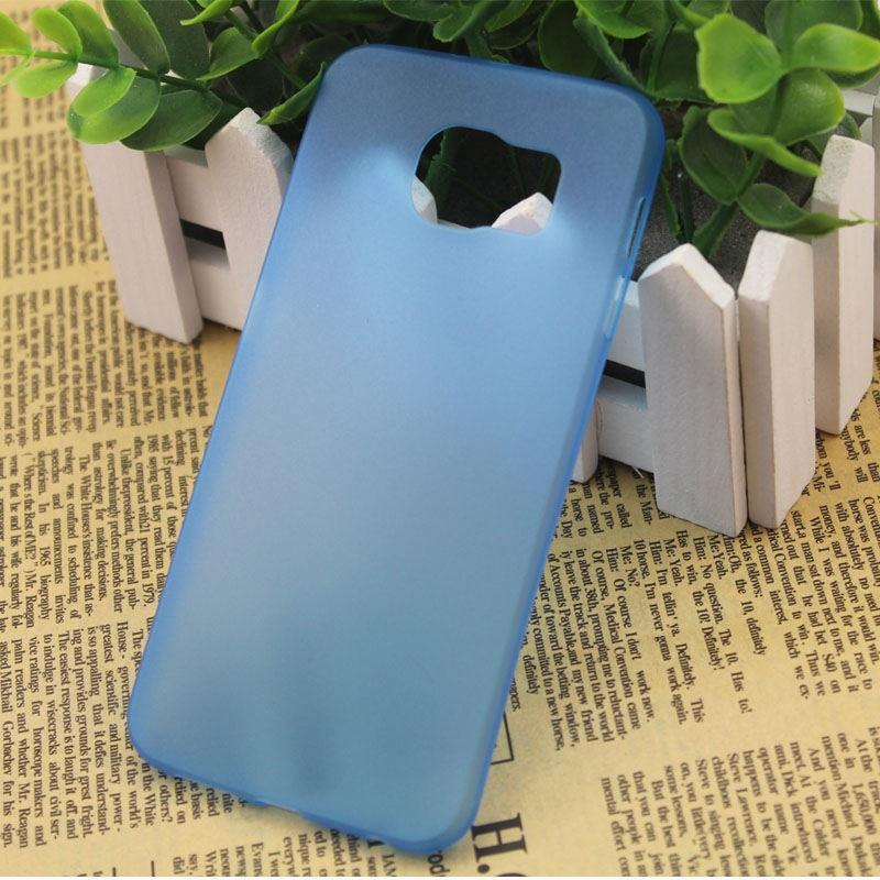 Ультратонкий пластиковый чехол для Samsung Galaxy S6 Edge синий