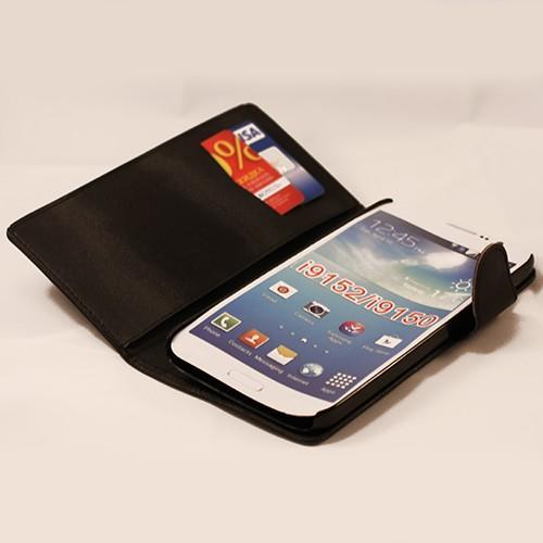 Кожаный чехол-книжка для Samsung Galaxy Mega 5.8 чёрный