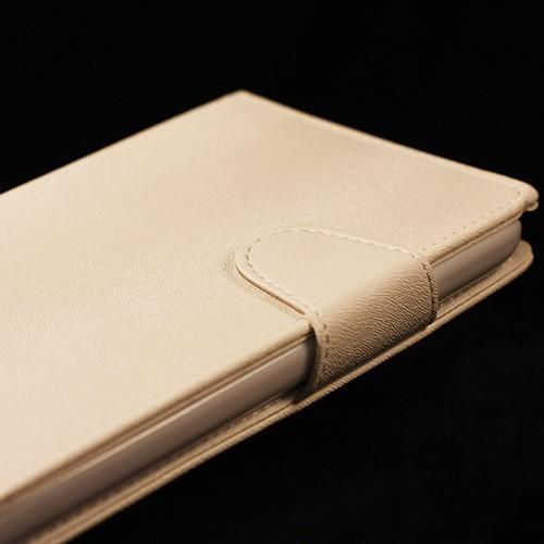 Кожаный чехол-книжка для Samsung Galaxy Mega 5.8 белый