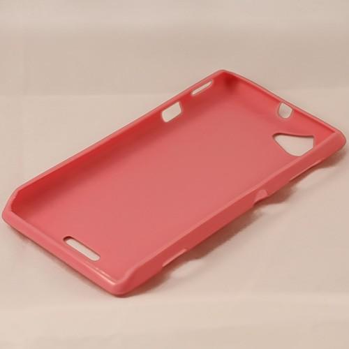 Силиконовый чехол для Sony Xperia L розовый Bubble