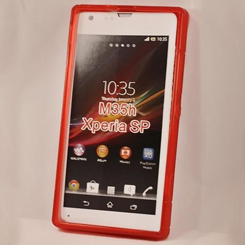 Силиконовый чехол для Sony Xperia SP красный
