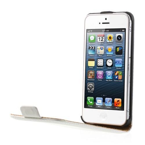 Чехол книжка Down Flip для iPhone 5 и iPhone 5S белый