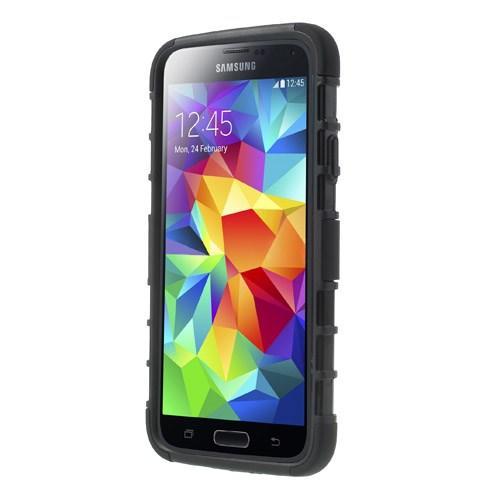 Противоударный гибридный чехол для Samsung Galaxy S5 Черный