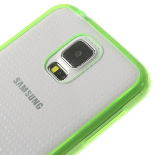 Силиконовый чехол для Samsung Galaxy S5 Crystal&Light Green