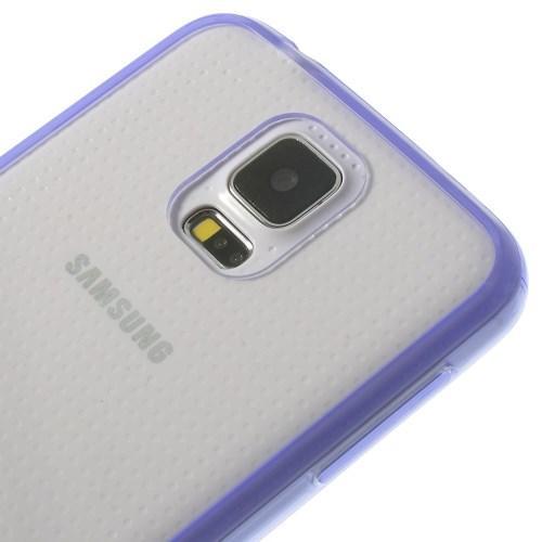 Силиконовый чехол для Samsung Galaxy S5 Crystal&Purple