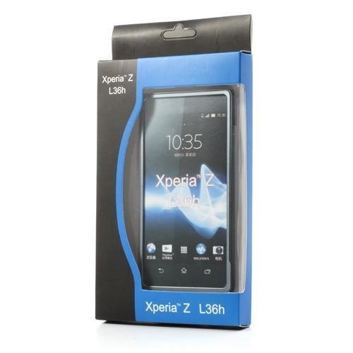 Алюминиевый бампер для Sony Xperia Z серебристый