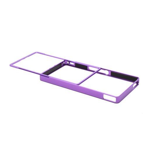 Алюминиевый бампер для Sony Xperia Z фиолетовый