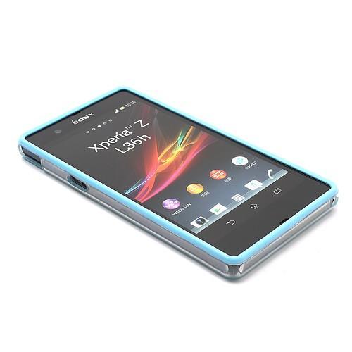 Бампер для Sony Xperia Z голубой