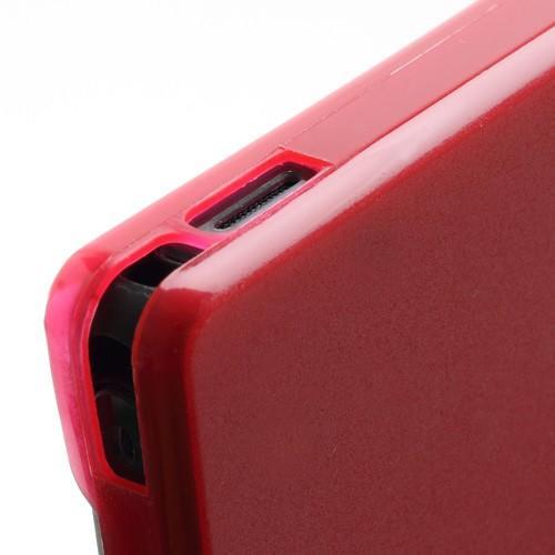 Ультратонкий кейс чехол для Sony Xperia Z красный