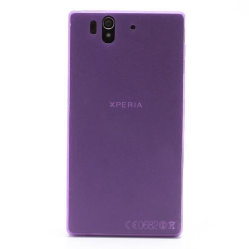 Ультратонкий кейс чехол для Sony Xperia Z фиолетовый