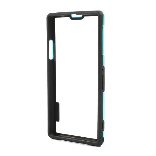 Силиконовый бампер для Sony Xperia Z1 голубой