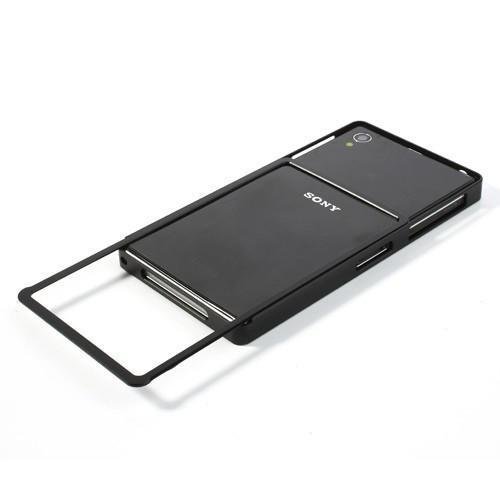 Алюминиевый бампер для Sony Xperia Z1 черный