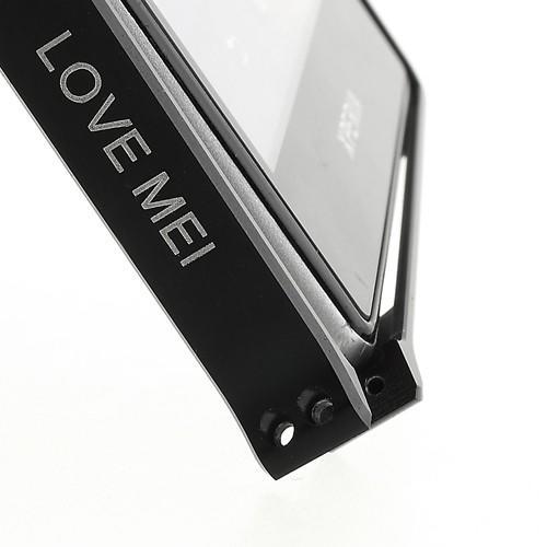 Алюминиевый бампер для Sony Xperia Z1 черный LOVE MEI