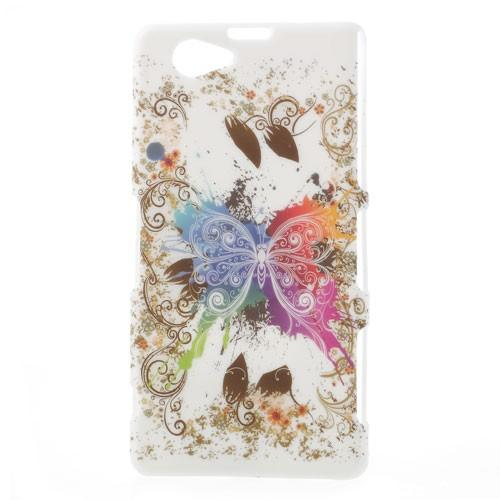 Кейс чехол для Sony Xperia Z1 Compact Colorful Butterfly