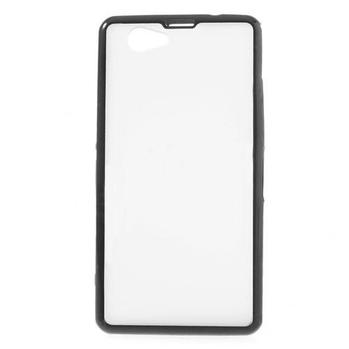 Силиконовый чехол для Sony Xperia Z1 Compact Crystal&Black