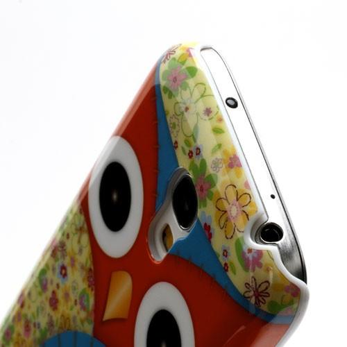 Кейс чехол для Samsung Galaxy S4 mini  Owl Red