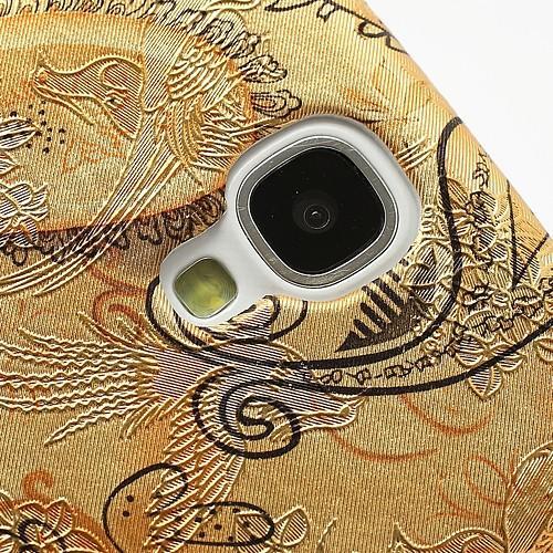 Кейс чехол для Samsung Galaxy S4 Перо феникса Gold