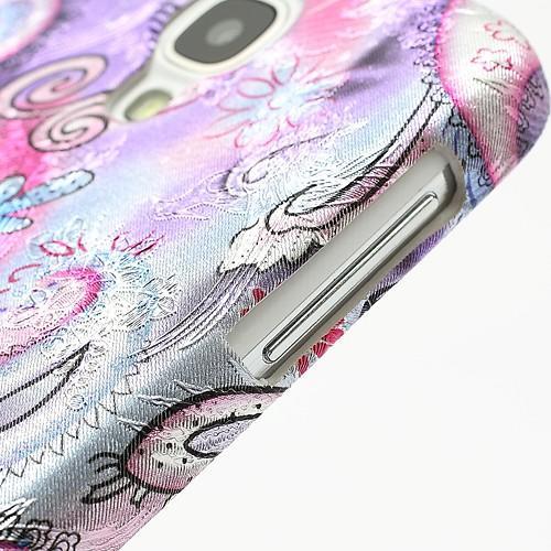 Кейс чехол для Samsung Galaxy S4 Перо феникса Purple