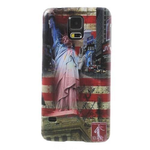Кейс для Samsung Galaxy S5 орнамент Америка