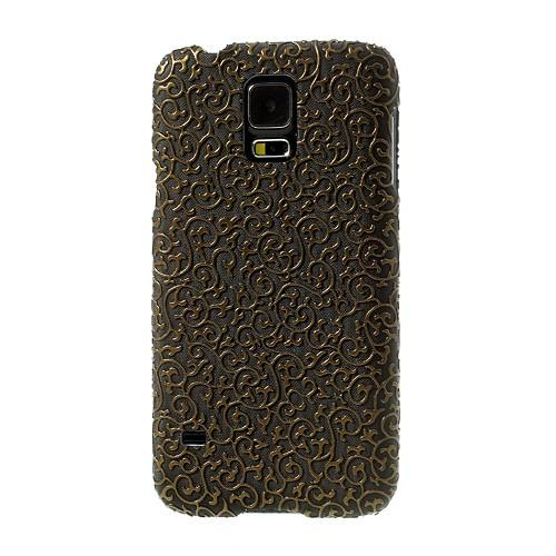 Кейс для Samsung Galaxy S5 Floral Brown