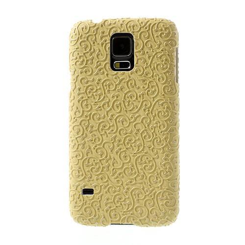 Кейс для Samsung Galaxy S5 Floral Gold