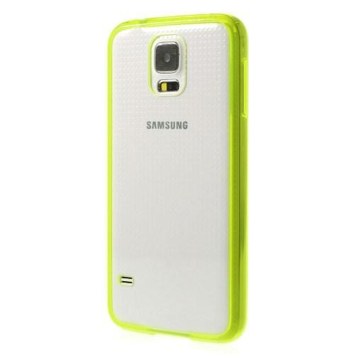 Силиконовый чехол для Samsung Galaxy S5 Crystal&Yellow