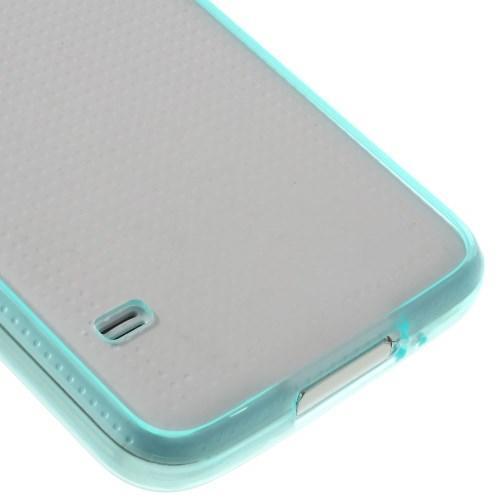 Силиконовый чехол для Samsung Galaxy S5 Crystal&Mint Green