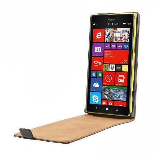 Кожаный flip чехол книжка для Nokia Lumia 1520