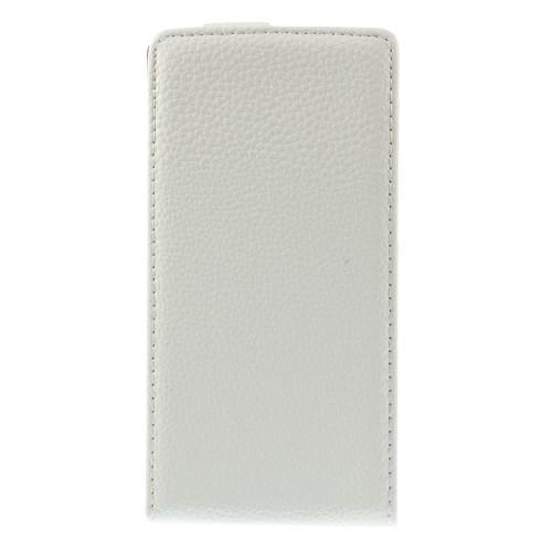 Кожаный Down flip чехол для Nokia Lumia 930 белый Leechi